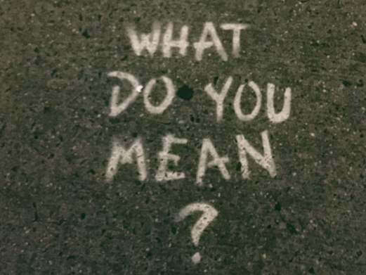 What do you mean spray-painted on a road